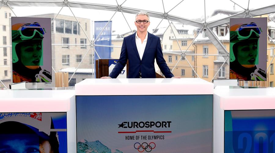 Jonathan Edwards in St Moritz (Credit: Eurosport)