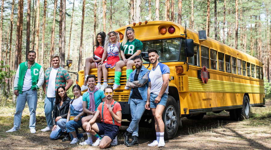 The contestants of Killer Camp (credit: ITV)