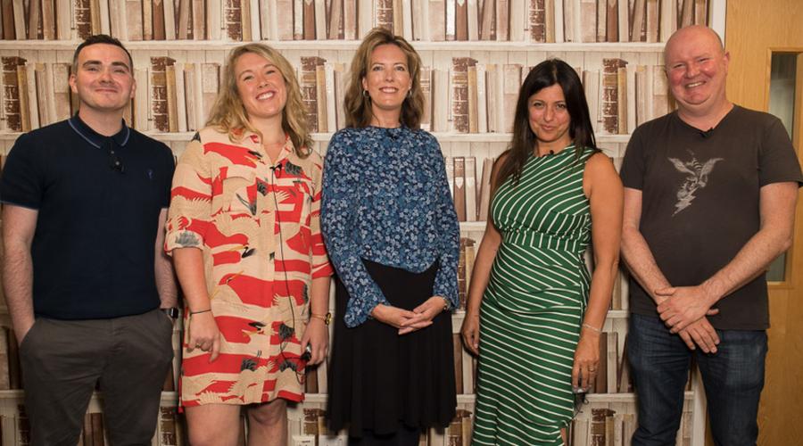 From left: Sean Doyle, Ella Umansky, Caroline Frost, Camilla Lewis and Richard McKerrow (Credit: RTS/Paul Hampartsoumian)