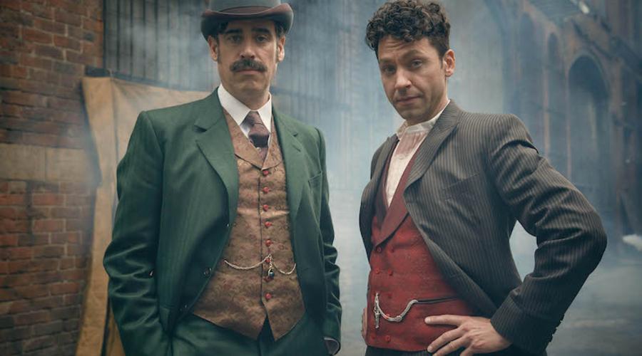 Michael Weston as Harry Houdini and Stephen Mangan Arthur Conan Doyle star in Houdini and Doyle