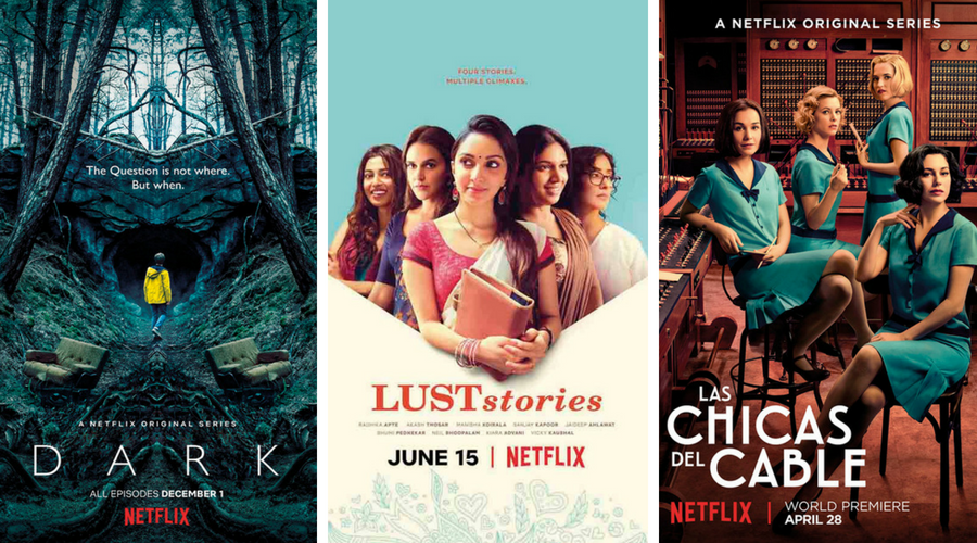 Netflix commissions from Germany, India and Spain