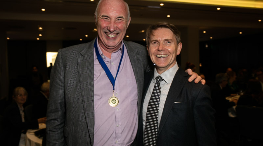 Alex Graham with John Hardie (Credit: Paul Hampartsoumian)