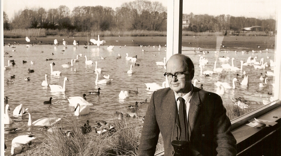 Sir Peter Scott at Slimbridge