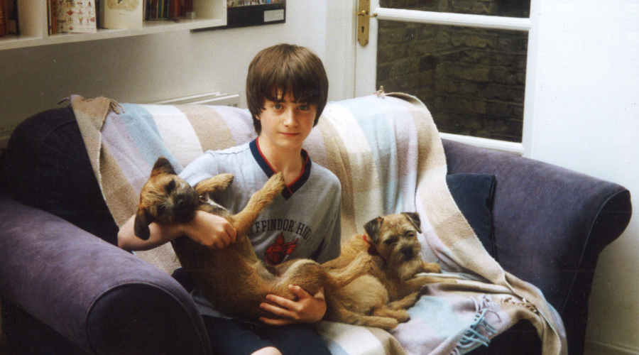 Daniel Radcliffe in his family home, aged 13, 2002 (Credit: BBC/Wall to Wall Media Ltd/Marcia Gresham)