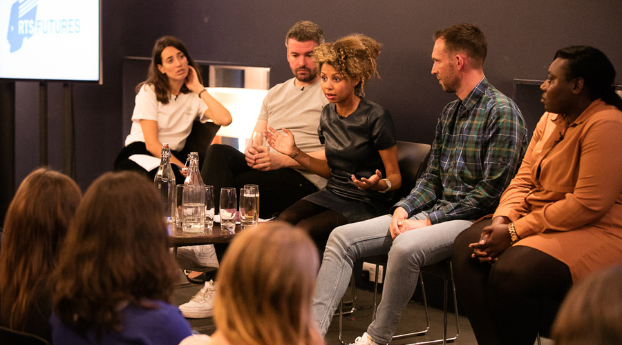 The reality TV panel, L-R: Laura Jackson, Craig Orr, Becky Crosthwaite, Philip McCreery and Coco Jackson (Credit: Paul Hampartsoumian)