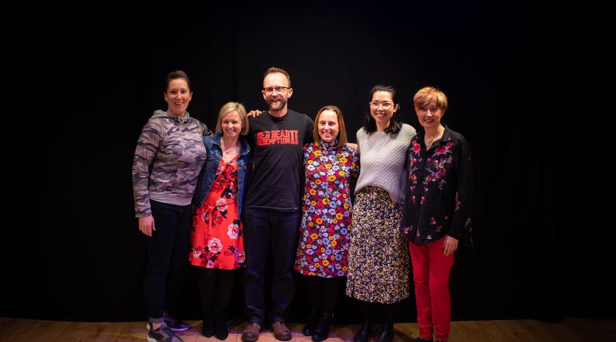 Jill Wallace, Rhona Drummond, Jim Jagger, Sueann Rochester, Annie Campbell and Cheryl Strong (RTS)