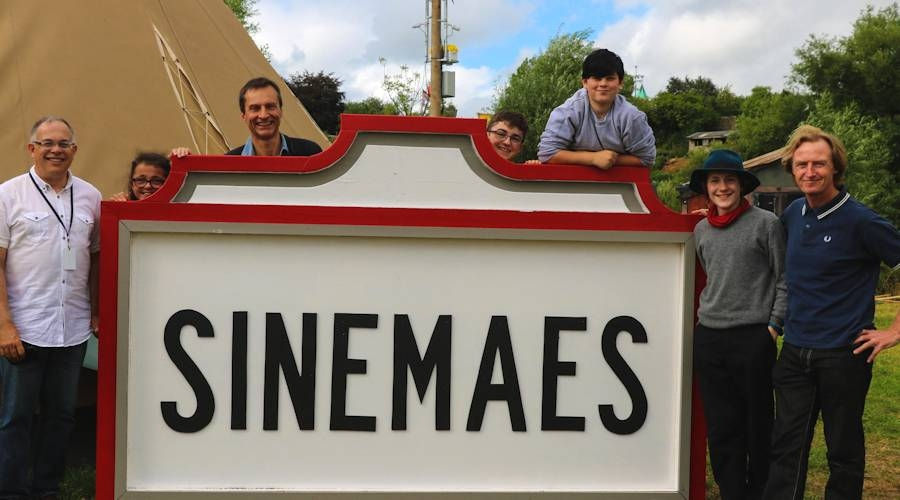 The Sinemaes tent (Cinema on the Eisteddfod field)