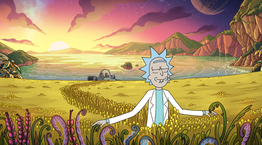 Rick Sanchez (Justin Roiland) in Rick and Morty (Credit: Adult Swim/Fox/Channel 4)