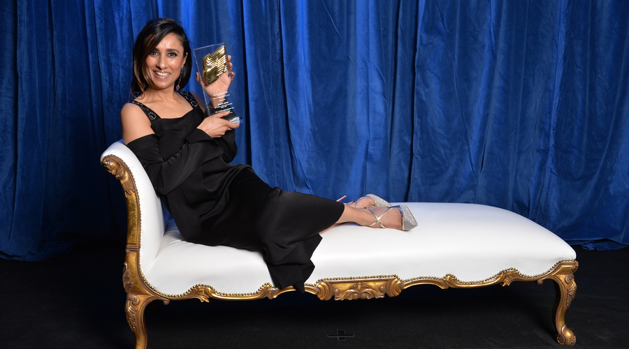 Anita Rani picked up the presenter award (Credit: RTS/Richard Kendal)