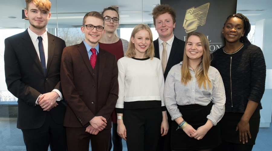 RTS Bursary Students including James Cordell (second left) (Credit: Paul Hampartsoumian/RTS)