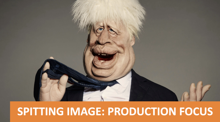 A puppet caricature of Boris Johnson from the revival series of Spitting Image