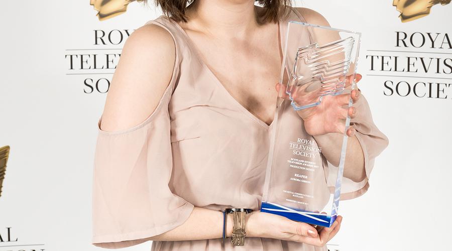 Aurora Gibson, winner of Best Production Design