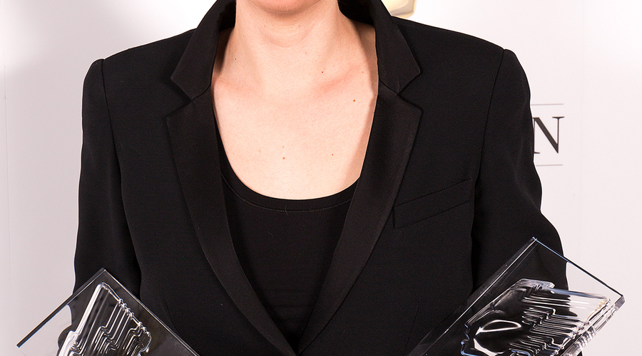 Louise Lockwood, winner of Camera and Director of the Year Awards