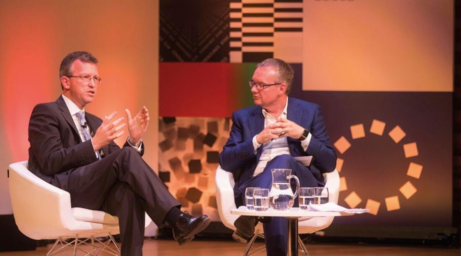 Jeremy Wright MP (left) and David Lynn