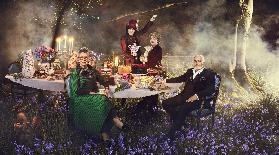 Prue Leith, Noel Fielding, Sandi Toksvig and Paul Hollywood (Credit: Channel 4)