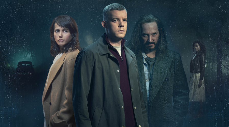 Amrita Acharia, Russell Tovey, Bertie Carvel and Simone Ashley (Credit: ITV)