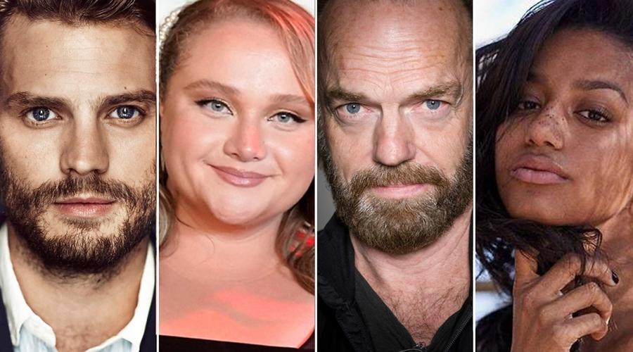 Jamie Dornan, Danielle Macdonald, Hugo Weaving and Shalom Brune-Franklin (credit: BBC)