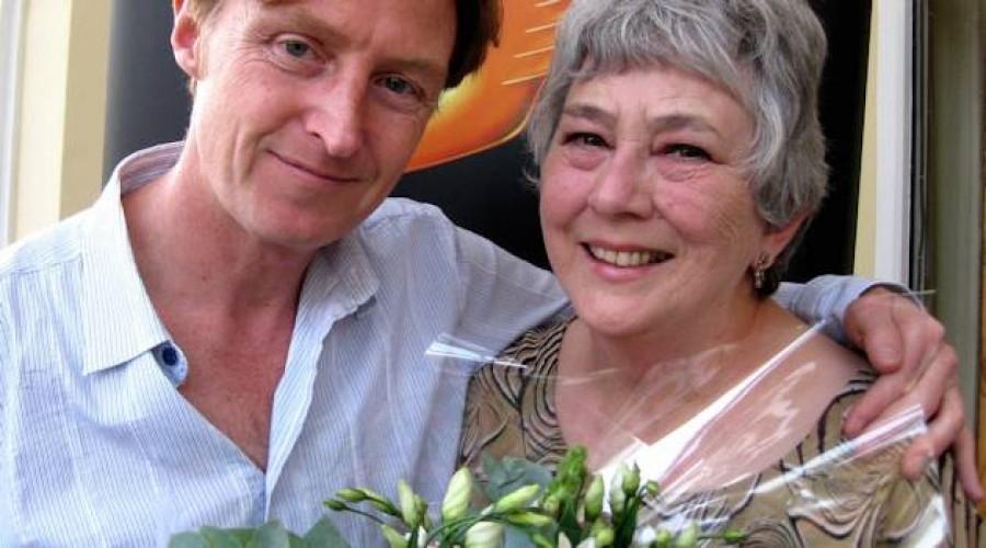 Mari Griffith with former RTS Cymru Wales Chair Tim Hartley