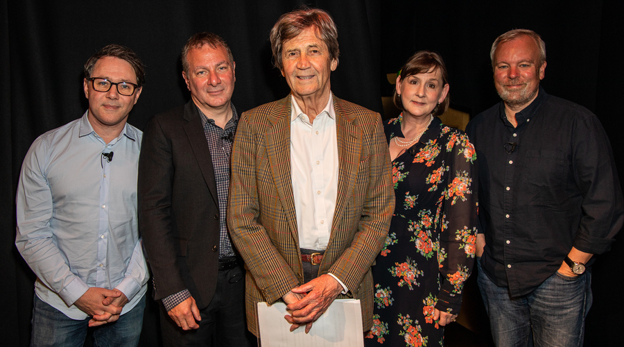 Reece Shearsmith, Jed Mercurio, Melvyn Bragg (Chair), Heidi Thomas and Steve Pemberton (Credit: Paul Hampartsoumian)