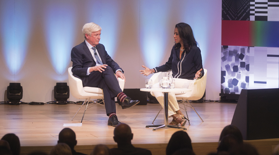 Tony Hall and Zeinab Badawi