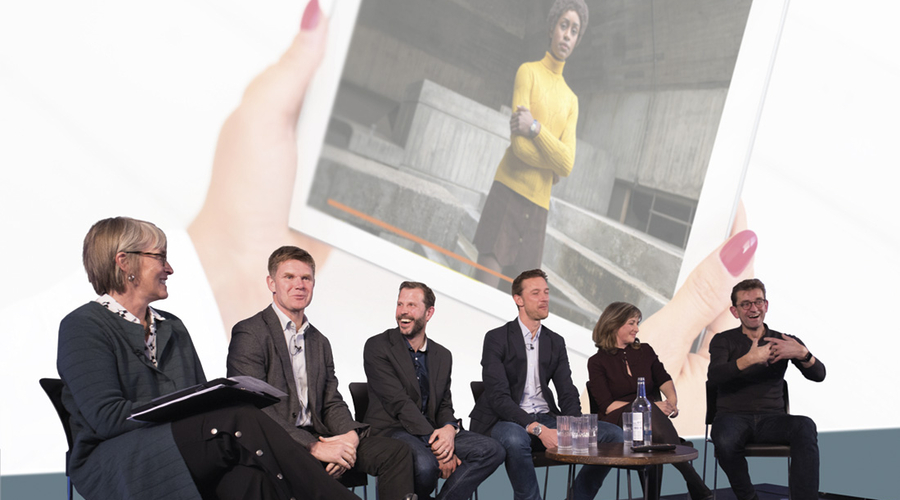 From left: Kate Bulkley, John Litster, Matt Hill, Rich Astley, Sarah Rose and Justin Sampson. Inset: The Little Drummer Girl (Credit: Paul Hampartsoumian/Shutterstock/BBC)