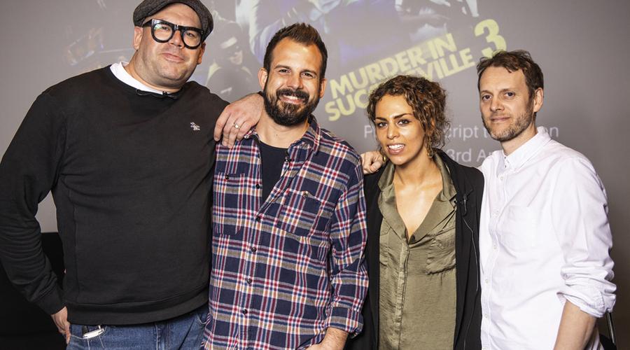 Tom Davis, James de Frond, Lara Singer and Andrew Brereton (Credit: Paul Hampartsoumian)