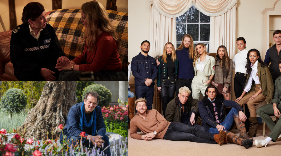 Unforgotten, Gardeners' World and Made in Chelsea (credit: ITV/ BBC / Channel 4)