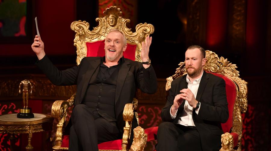 Greg Davies and Alex Horne on Taskmaster (Credit: UKTV/Avalon)