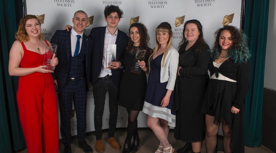 Students from Sheffield Hallam University celebrating 3 wins (Credit: Paul Harness Photography)