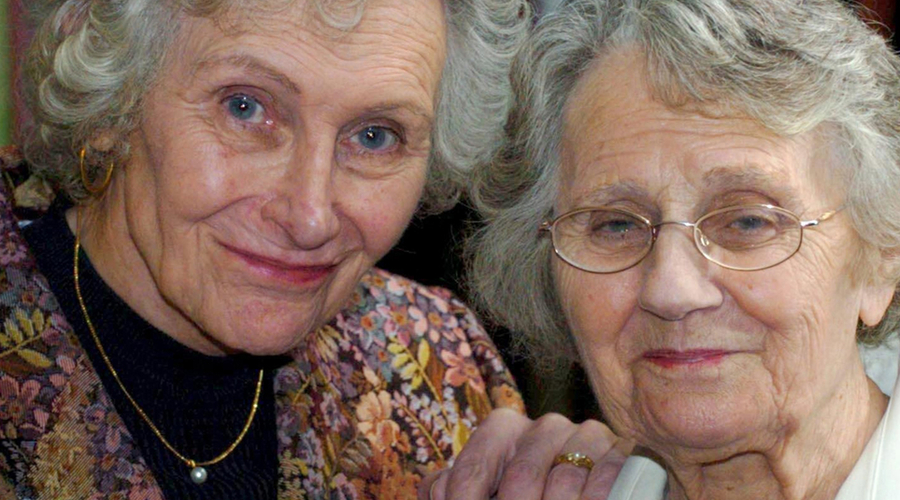 Bernadette Rogers (left) with her civil partner Joyce Rogers (Credit: PA)