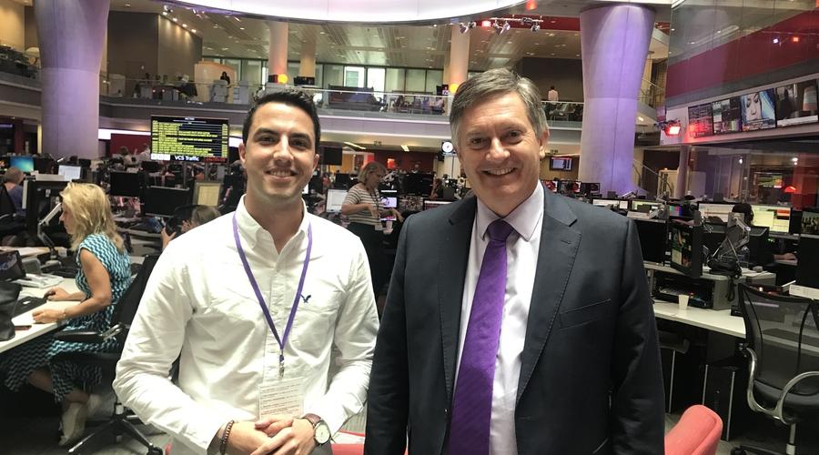 Theo Pegkas and Simon McCoy (Credit: BBC)