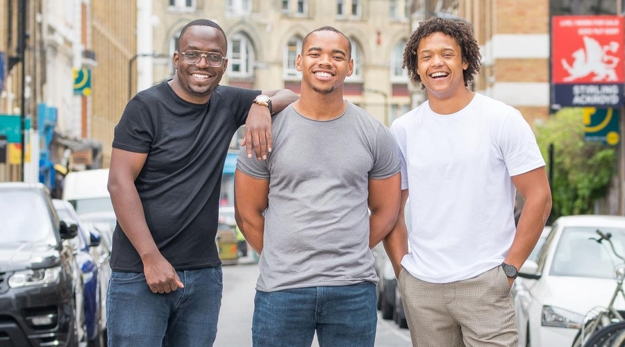 From left to right: Tafara Makopa, Joivan Wade, Percelle Ascott (Credit: Channel 4)