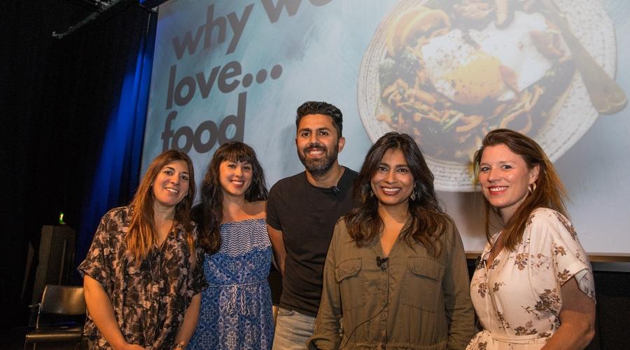 Tanya Shaw, Melissa Hemsley, Pritesh Mody, Nisha Katona, Sarah Lazenby (Credit: Phil Lewis/RTS)