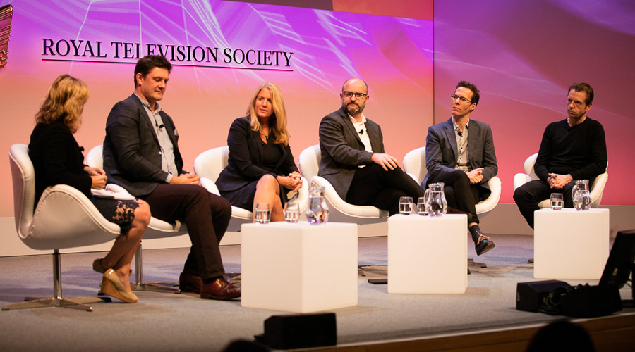 The panel (L-R): From left: Jane Martinson, Zai Bennett, Delia Bushell, Damian Kavanagh, Richard Watsham and Kevin Sutcliffe (Credit: Paul Hampartsoumian)