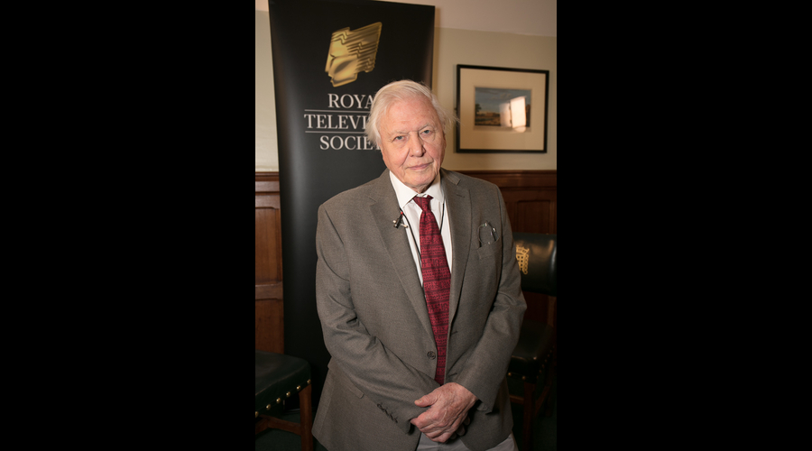 Royal Television Society vice president Sir David Attenborough (Credit: Paul Hampartsoumian)
