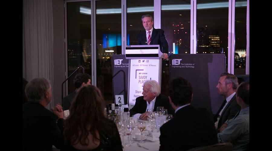 Tom Mockridge addresses guests