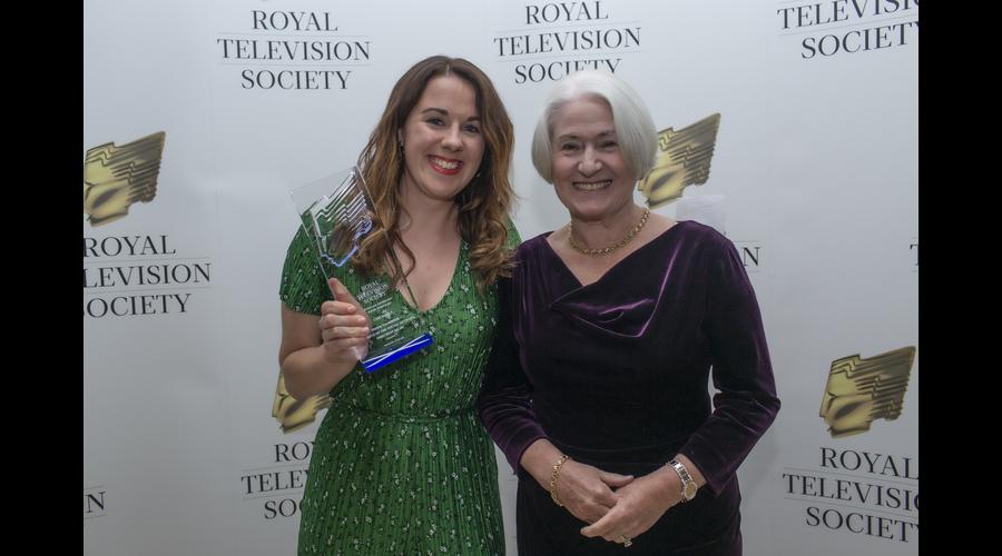 Ceri Isfryn Young Journalist recipient with Celia Sinclair