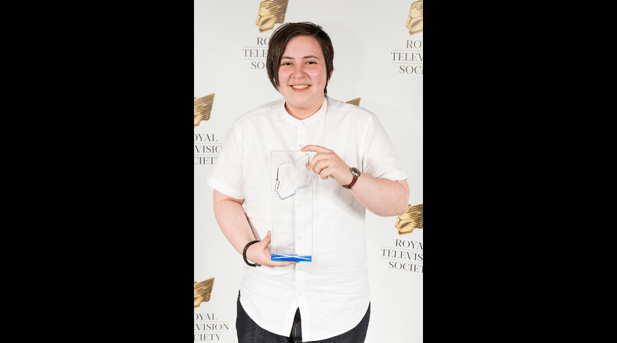 Marsaili Stewart-Skinner, winner of Best Sound, at the RTS Scotland Student Awards 2017 on the 1st of March 2017 at The Hub Glasgow.