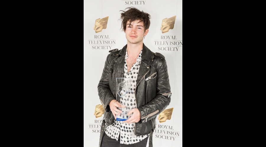 Ben Cresswell, winner of Best Animation, at the RTS Scotland Student Awards 2017 on the 1st of March 2017 at The Hub Glasgow.