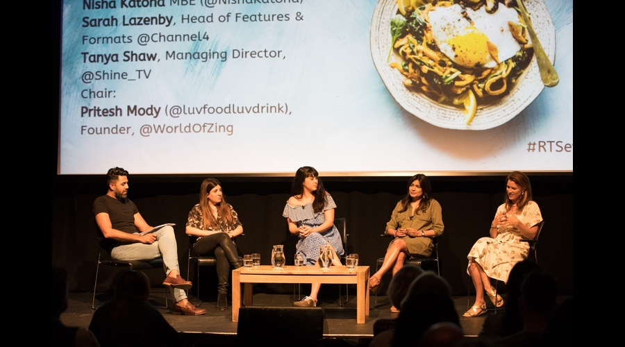 Pritesh Mody, Tanya Shaw, Melissa Hemsley, Nisha Katona, Sarah Lazenby (Credit: Phil Lewis/RTS)