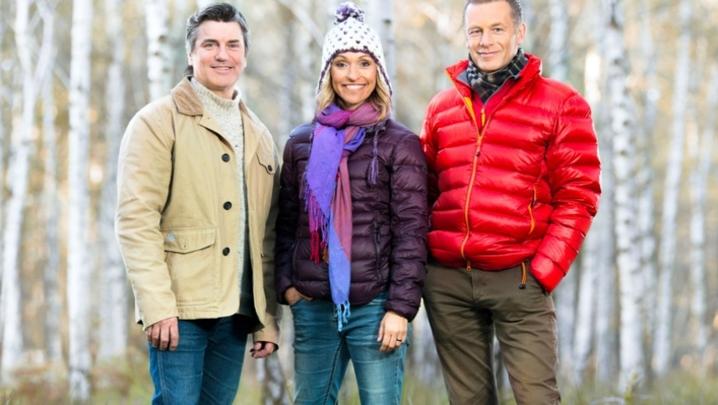 Martin Hughes-Games, Michaela Strachan, Chris Packham, the presenters of Winterwatch (pictured) and Springwatch (Credit: BBC)