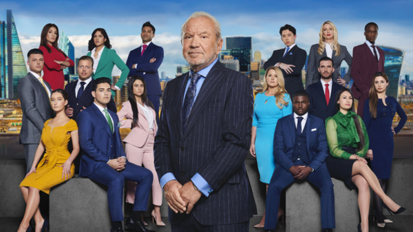 Lord Alan Sugar with the 2019 candidates (Credit: BBC/Boundless)