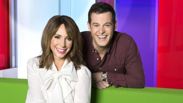 Alex Jones and Matt Baker in The One Show (Credit: BBC/Ray Burmiston)