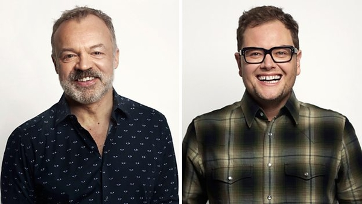 Graham Norton and Alan Carr (Credit: BBC)