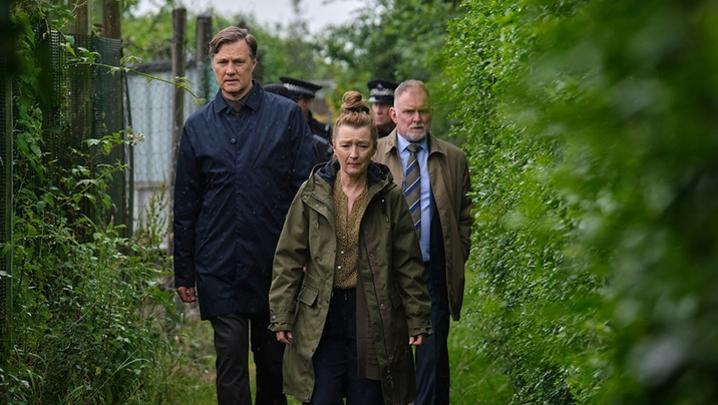 (Credit: BBC) Ian St Clair (David Morrissey), Julie Jackson (Lesley Manville), Kevin Salisbury (Robert Glenister)