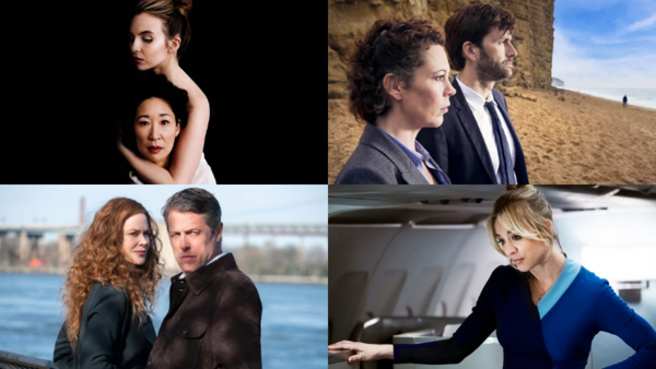 From top left clockwise: Killing Eve (Credit: BBC), Broadchurch (Credit: ITV), The Undoing (Credit: Sky), The Flight Attendant (Credit: Sky)
