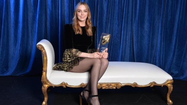 Jodie Comer took home the Actor - Female award for her role in Killing Eve (Credit: RTS/Richard Kendal)