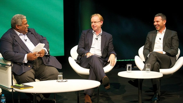 Pat Younge, Kevin Lygo and Michael Edelstein (Credit: Paul Hampartsoumian)