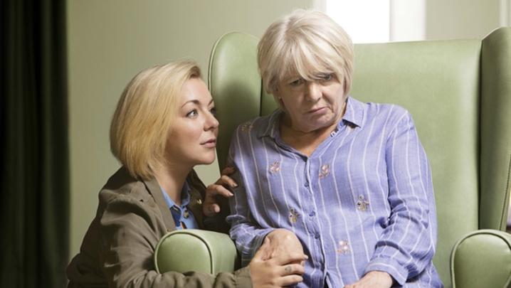 Jenny (Sheridan Smith) and Mary (Alison Steadman in Care (Credit: BBC/LA Productions/Dan Prince)
