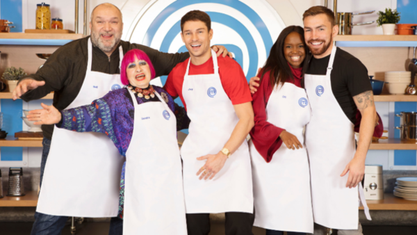 Neil 'Razor' Ruddock, Dame Zandra Rhodes, Joey Essex, Oti Mabuse and Andy Grant (Credit: BBC/Shine TV)